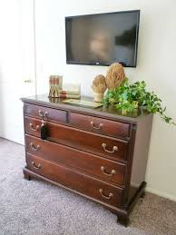 hanging the tv over bedroom dresser a