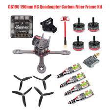 gb190 190mm rc quadcopter carbon fiber diy frame kit racing drone with runcam 700tvl dys 30a