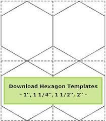 Tips for cutting hexagon templates /Geta's Quilting Studio ... & Hexagon quilt pattern Adamdwight.com