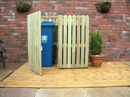 outdoor trash can storage bin wooden garbage pertaining to designs cabinet sheds