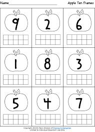 Ten Frame Worksheets For Kindergarten Worksheets for all ...