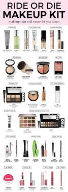 my ride or makeup kit makeup that will never let you down a