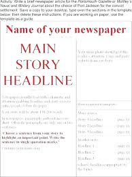Old Newspaper Article Template Old Newspaper Front Page Template Psd Download Nppa Co