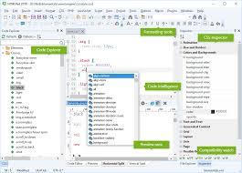 HTML5 editor, CSS3 editor, JavaScript editor