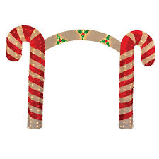 Candy Cane Yard Decorations Product Works Candy Cane Christmas Archway Yard Art Decoration 51