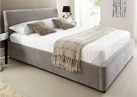 Ottoman Bedroom Serenity Upholstered Ottoman Storage Bed Steel Grey Ottoman