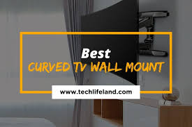 8 best curved tv wall mount stylish
