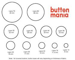 Button Size Chart White Shell With Rim Shirt Button