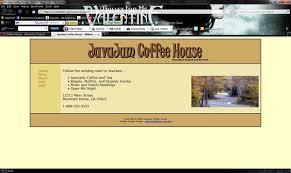 FIGURE JavaJam Coffee House home page