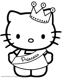 A beautiful picture full of hello kitty! Hello Kitty Coloring Pages The Sun Flower Pages