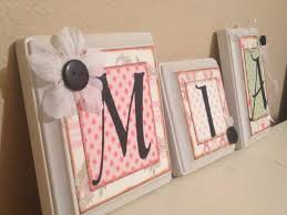 Baby Monogram Wall Decor Nursery Wall Letters Personalized Custom Baby Name Letters Baby