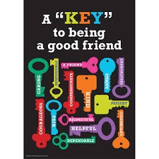 How To Design A Classroom Poster Key To Being A Good Friend Classroom Poster