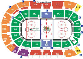 Spokane Arena Hockey Seating Chart Arena Seating Chart Everett Silvertips