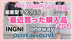 購入品紹介量産型ヲタク服を買うpart2 All3000円税抜以下onewayingniolive