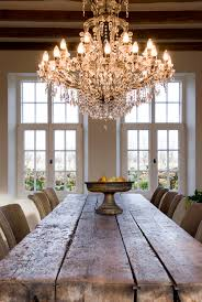 chandelier over the french dining table