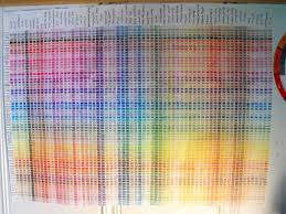 Snowflake Clockwork Crayon Color Chart