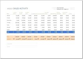 sales activity report excel weekly report format excel weekly sales activity report template for