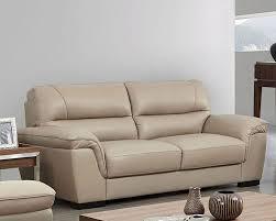 image of modern leather sofa beige color