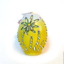 Пасхальная <b>резная свеча</b> Пасхальное яйцо (Ромашки ...