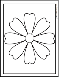 Preschool Coloring Pictures Of Flowers Coloring Pages Flowers Free