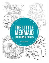 Free printable mermaid coloring pages. The Little Mermaid Coloring Pages Free Printables April Golightly