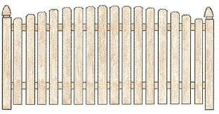 picket fence drawing. Arched Dog Eared Picket Fence Drawing