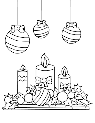 Small Picture Christmas Candle Under Mistletoe Coloring Pages Download Print