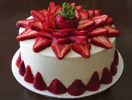 Strawberry Cake Tajgiftcom Send Flowers Cakes To India