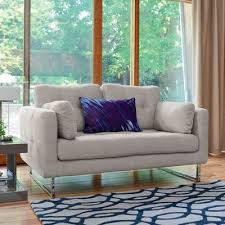 paris two seater sofa pewter fabric