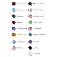 Swarovski Crystal Birthstone Chart Gold Silver Crystal Family Birthstone Bracelet