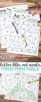 Hidden Letter & Number – Free Printable | Number identification ...