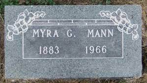 Myra Grace Mann (1883 - 1966) - Genealogy