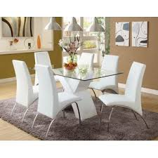 white dining room table and chairs faust 7 piece dining set spjlcwb