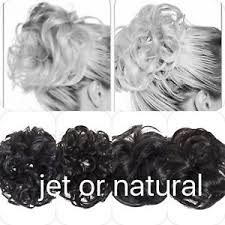 Details About Koko Hair Scrunchie Wrap Natural Or Jet Black Large Messy Bun Updo Wavy Curly