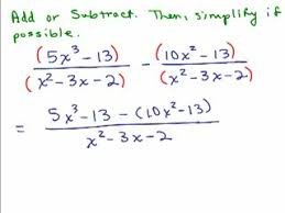 adding subtracting rational expressions videos for high school