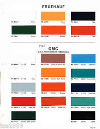 Dupont Color Chart For Cars Details About 1965 Fruehauf Gmc Truck Color Chip Paint Sample Brochure Chart Dupont