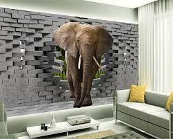 Beibehang 3D Wallpaper Thai Elephant ...