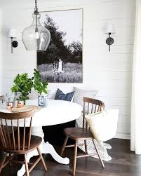 clic dining room with shiplap