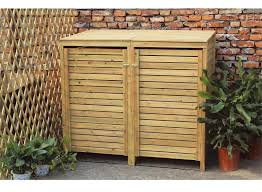 Airtight Storage Cabinet Storage Double Bin Outdoor Storage Cabinet Made Of Wood Combined