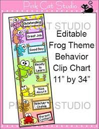 Frog Themed Behavior Chart Frog Classroom Decor Behavior Clip Chart Classroom Management Tool