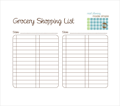 Template For Shopping List 13 Blank Grocery List Templates Pdf Doc Xls Free