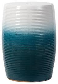 blue white ceramic garden stool d13x18