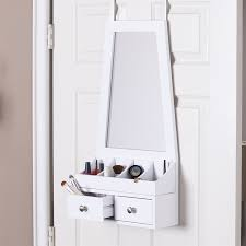 boston loft furnishings lelo white over the door jewelry armoire