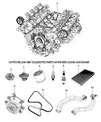 r2637078 genuine dodge engine long block Dodge Nitro Engine Diagram 2007 dodge nitro service engine & suggested parts diagram i2261216 2008 dodge nitro engine diagram