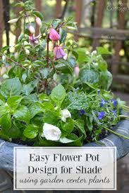 easy pretty flower pot design for shade recipe using inexpensive garden center plants