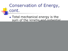 potential energy equation physics math conservation of energy cont math grade 7