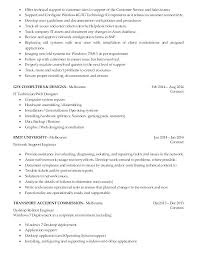 Technical Support Specialist Resume Resume Sample Source