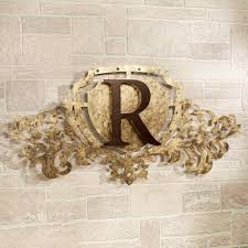 >generations gold monogram crest metal wall art sign generations monogram crest metal wall art sign antique gold touch to zoom