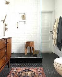 black hex tile stunning hexagon tile bathroom floor black and white home black hex tile floor black hex tile