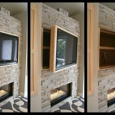 honeycomb splitface 6x24 installed on fireplace and harth
